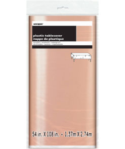 TABLECOVERS ROSE GOLD FOIL PLST 54X108