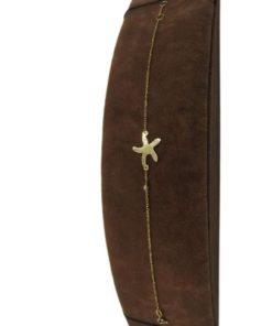 18K Yellow Gold Charm Women's Bracelet With Starfish Design