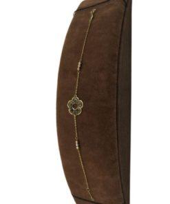 18K Yellow Gold Elegant Women's Bracelet with Flower Design