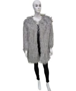 Lamb Fur Long Coat Outwear Jacket