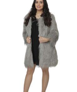 Lamb Fur Long Coat Outwear Jacket