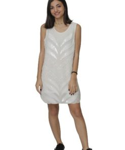 Beaded Blouson Mini Dress