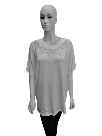 T-Shirt with Silver Design
