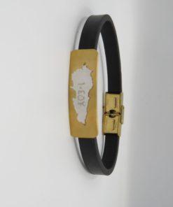 10,452 Lebanon Map-Bar Stainless Steel Bracelet