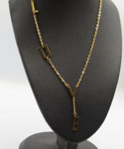 Letter Hanging L o v e Letter Stainless Steel Necklace