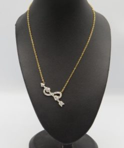 Infinity Arrow Stainless Steel Necklace