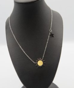 Sun Star Stainless Steel Necklace