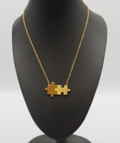 Puzzle Pendant Stainless Steel Necklace
