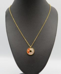 Colorful Round Pendant Stainless Steel Necklace