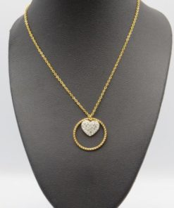 Circle Heart pendant Stainless Steel Necklace