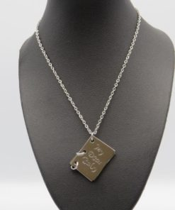 My Dear Baby Carved Pendant Stainless Steel Necklace