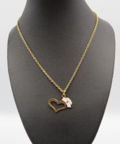 Love Prayer Heart Nurse Cap Pendant Stainless Steel Necklace