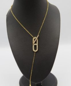 T-Bar Y Stainless Steel Necklace