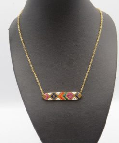 Colorful Horizontal bar Stainless Steel Necklace
