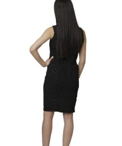 Women's Sleeveless Shimmery Black Dress