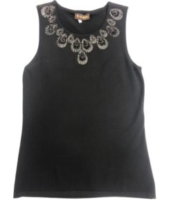 Women's Sleeveless Top With Round Neckline Design