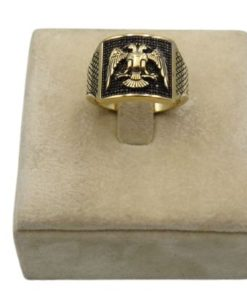 18K_Yellow_Gold_Ring_For_Men_With_Eagle_Design