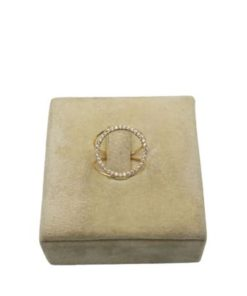 18K Yellow Gold Ring With Circle On Top