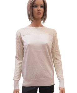 Loose Fitting Women's Sweater With Sparkling Finish