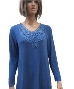 Women's Sweater With Round Crochet Neck