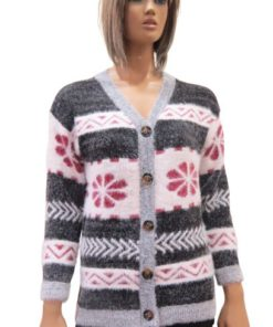 Cardigan With Buttons And A V-Neck