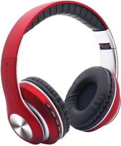 Wireless 5.0 Headset On Ear Headphones with Mic Lightweight Portable Foldable Bass Earphone Adjustable Headband