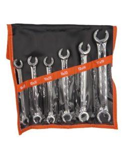6 Pcs Flare Nut Wrenches Set