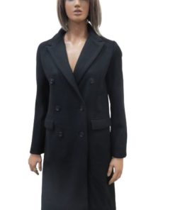 W-COLLECTION Double Breasted Long Coat