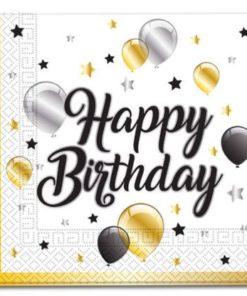Birthday Milestone Napkins 20Pcs