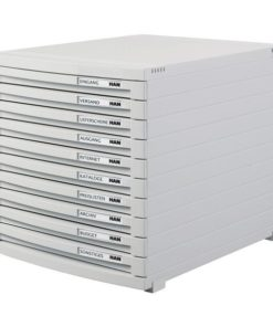 CONTUR cabinet 10 drawers Light grey