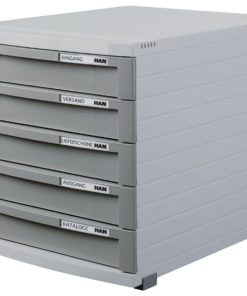 CONTUR cabinet 5 drawers Dark grey