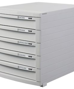 CONTUR cabinet 5 drawers Light grey