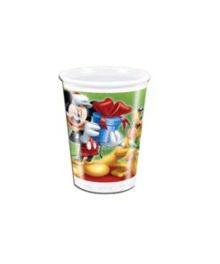 Mickey christmas Cups 8 Pcs