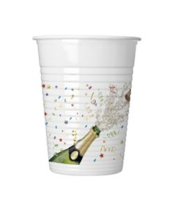 Sparkling NYE Cups 8 Pcs