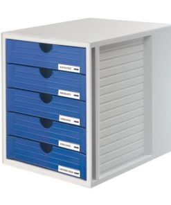HAN 5 drawers cabinet Blue