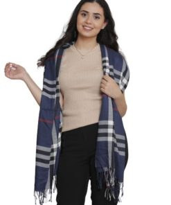 D&JEANS- Burberry Scarf With Fringe Trim