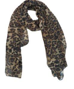 Silk Scarf Leopard Prints