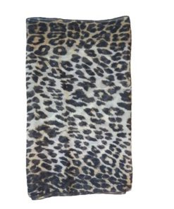 Leopard Print Square Silk Scarf