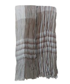 Polyester blend fabric Long Checked Scarf