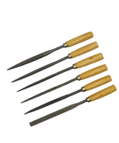 6PC Needle Wood Files and Rasps Set with Wooden Handle