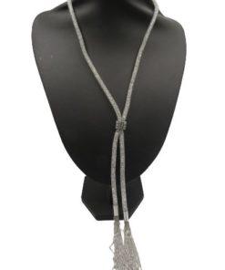 Women's Mesh Crystal Fishnet Necklace