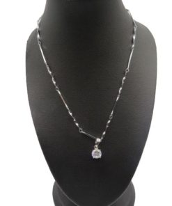 Single Round Rhinestone Necklace