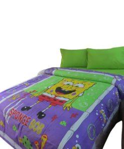 Disney Twin Duvet Cover Set - Sponge-Bob