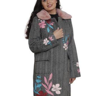 SWEET MISS Pink Fur Collar Coat