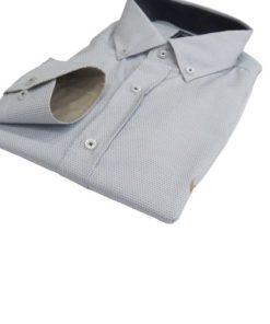 LAMBARDI Dotted Light Blue Shirt