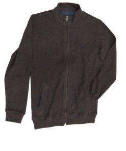 LAMBARDI Men's Full-Zip Cotton Sweater