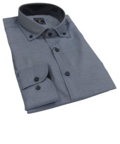 LAMBARDI Slim Fit Shirt With Button Barrel Cuffs