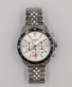 LONGBO Men's Balck Bezel Stailess Steel Chronograph Watch