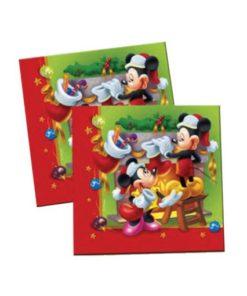 Mickey christmas Napkins 20 Pcs