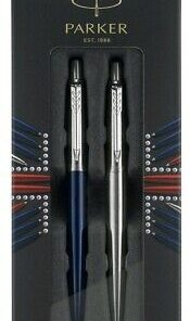 PARK 2033156 Royal Blue Ball Pen + Stainless Steel GEL